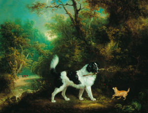 Nelson with a Terrier by Charles Henry Schwanfelder