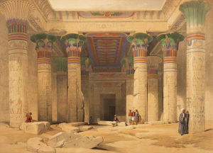 Temple of Philae, Nubia by David Roberts