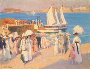 The Quay at Dinard by Ethel Carrick Fox