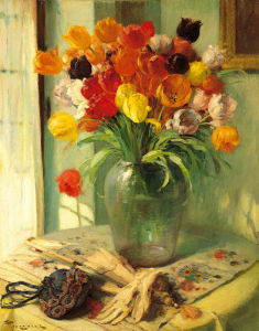 Tulips by Fernand Toussaint