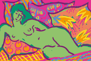Green Nude by Gerry Baptist