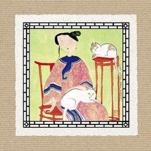 Two Cats by Hu Yongkai