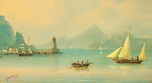 Harbour Entrance by Ivan Konstantinovich Aivazovsky