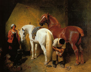The Blacksmith Shop by John Frederick Herring