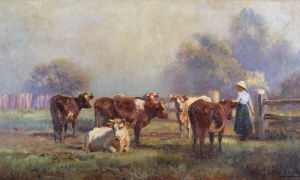 Early Morning Milking by Jan Hendrik Scheltema