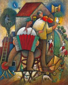 Village Dance by Jiri Borsky