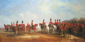 Inspecting the Regiment by John Ferneley