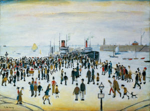 Ferry Boats by L S Lowry