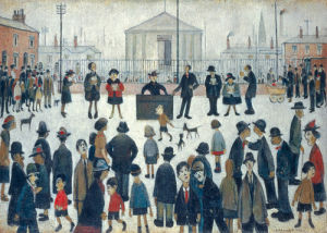 The Prayer Meeting by L S Lowry