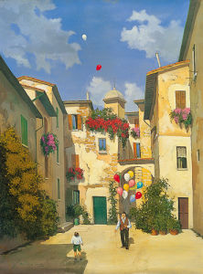 The Balloon Seller by Lucio Sollazzi