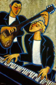 Piano and Guitar by Marsha Hammel