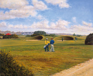 Carnoustie, 14th Hole by Peter Munro