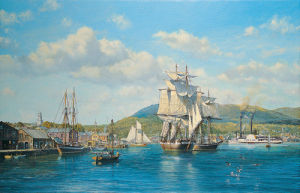 Aurelia' at Camden, Maine by Roy Cross