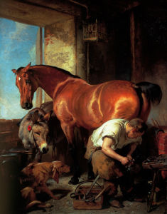 Shoeing by Sir Edwin Henry Landseer