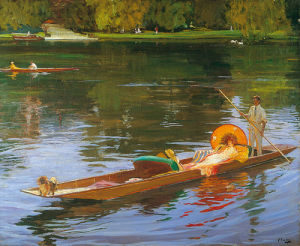 Boating on the Thames by Sir John Everett Lavery