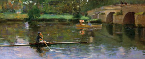 The Bridge at Grez by Sir John Everett Lavery