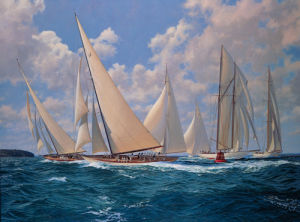 Big Class Astra Rounding the Mark by Steven Dews