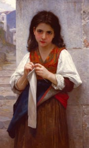 Tricoteuse by Adolphe William Bouguereau