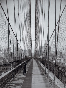 The Brooklyn Bridge, Sunday pm by Hulton Collection