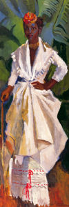 Woman in White II by Boscoe Holder