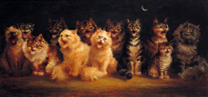 Cat's Chorus by Louis Wain