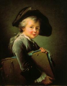 Portrait of the artist as a young man by Francois Hubert Douais