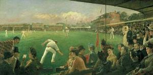 Imaginary cricket match by Sir Robert Ponsonby Staples