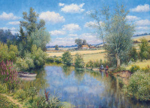 Midsummer Fishing by Mervyn Goode