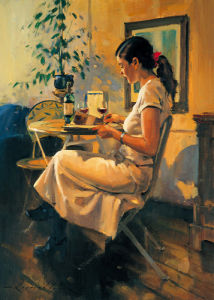Sunday Girl (small) by Raymond Leech