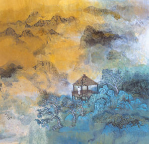 Enjoying solitude on blue peaks by Wang Jia'nan