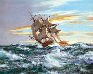 Dawn Chase by Montague Dawson
