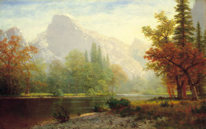 Half dome, Yosemite by Albert Bierstadt