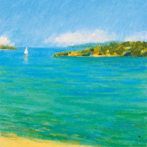 Aquamarine II by Hazel Barker