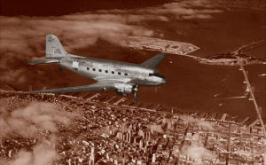 Mainline DC-3 over San Fravcisco, 1939 by Anonymous