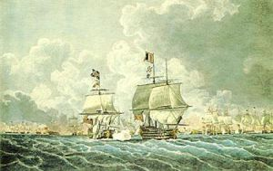 The Glorious 1st June 1794 (Morning) by Rovert Cleveley