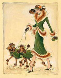 Prancing Poodles by Karen Dupré