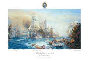 Battle of Trafalgar at 2.30pm by William Lionel Wyllie