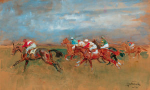 The Start Newmarket by Lionel Edwards