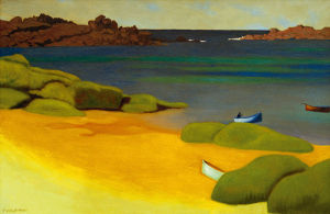 The Bay of Tregastel by Felix Vallotton