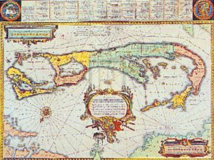 Map of Bermuda by Willem Janszoon Blaeu