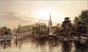 The Thames, Great Marlow by George Vicat Cole