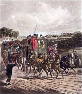 Going to the derby by Henry Alken