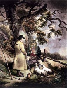 The shepherd's meal (small) by George Morland
