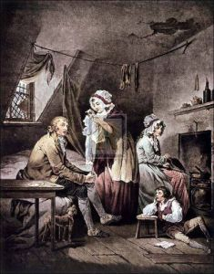 Effects of extravangance & idleness by George Morland