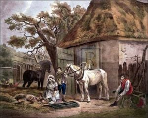 Feeding the pigs (small) by George Morland