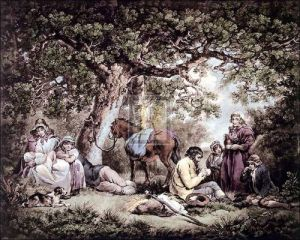 Travellers (small) by George Morland