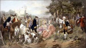 A picnic party of Madame du Barry by Vincet de Paredes