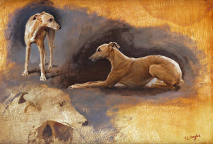 Whippets Study by Susan Crawford