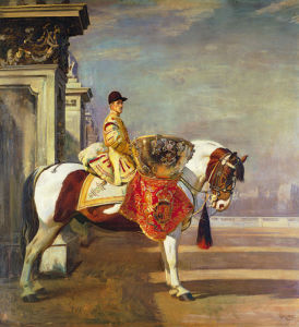 The Drum Horse (I) by Sir Alfred Munnings