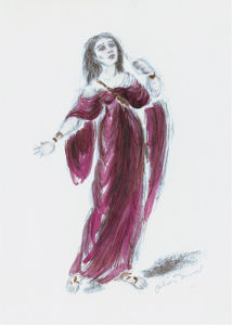 Designs For Cleopatra XVI by Oliver Messel